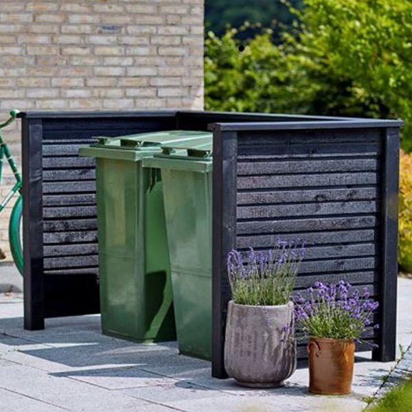 Mülltonnenverkleidung Holz Planken
