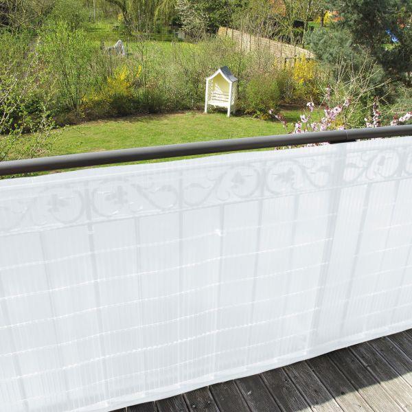 Sichtschutzmatte Kunststoff Montageset, Sunline satiniert