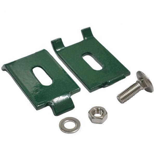 Eckverbinder für Doppelstabmatten, grün