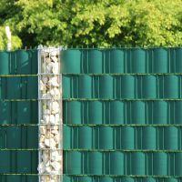 PVC Sichtschutzstreifen Doppelstabmattenzaun, Longlife grün Höhe x Länge:19 x 255 cm