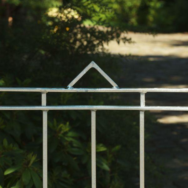 Zaunelement - Metallzaun Gartenstraße Dreieck H: 90cm