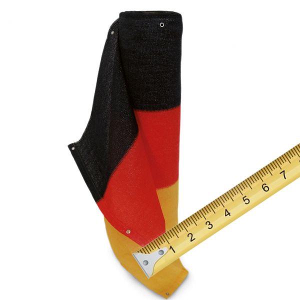 Balkonbespannung PE Meterware, schwarz-rot-gold Deutschland