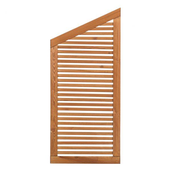 Sichtschutzwand Holz, Silence teak
