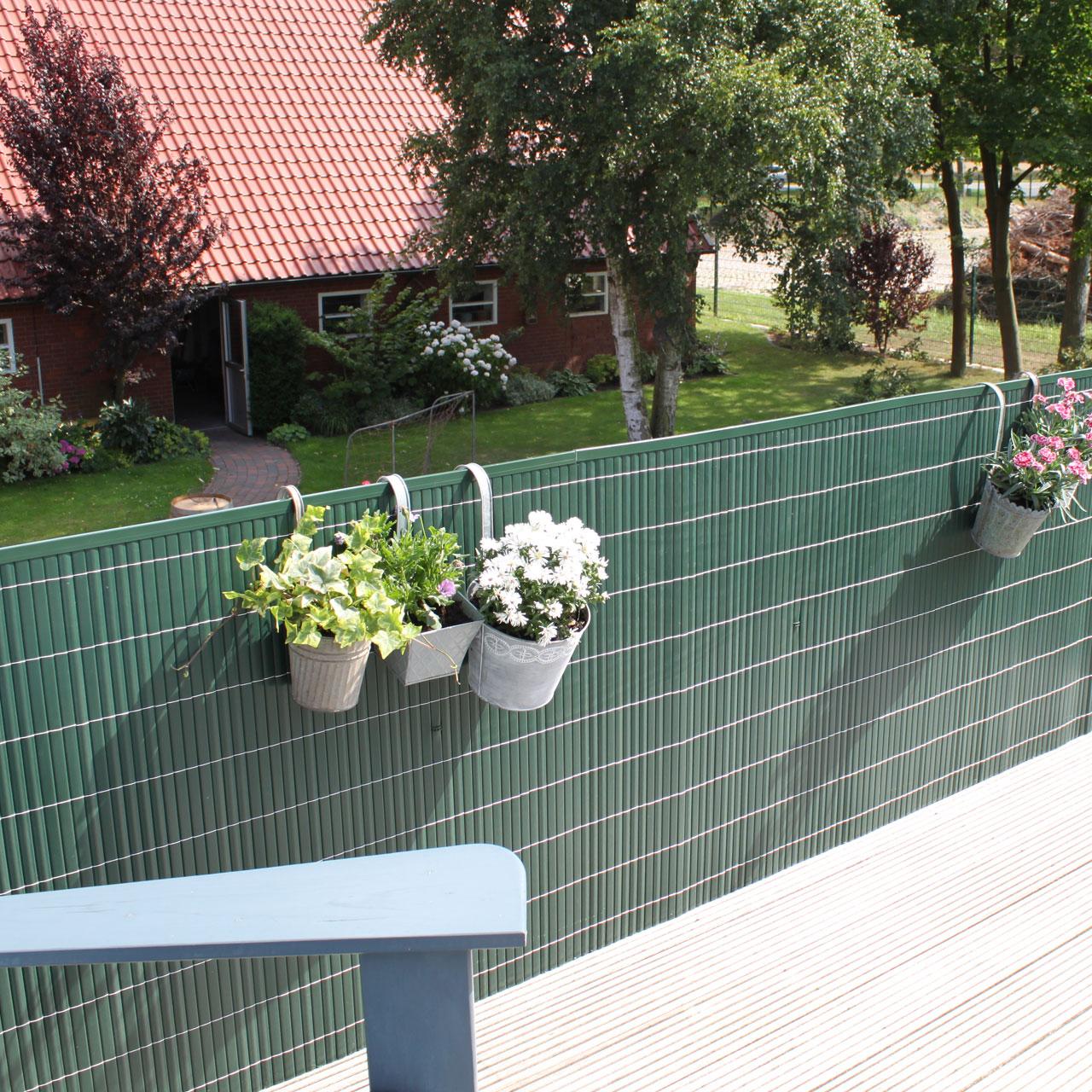 Sichtschutzzaun Pvc Kunststoff Montageset Rugen Grun
