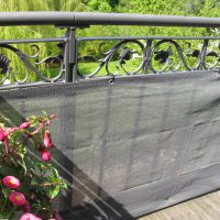 Balkonbespannung PE, Classik anthrazit Höhe x Breite:90 x 300 cm