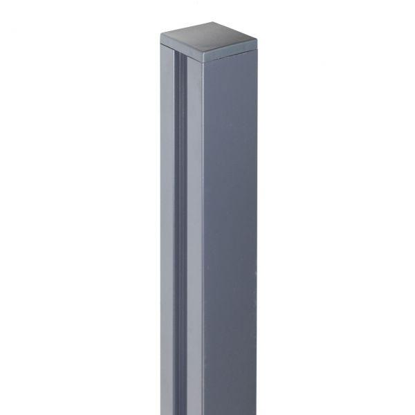 Alu-Pfosten 7x7 Bambus-Steckzaun YiNG