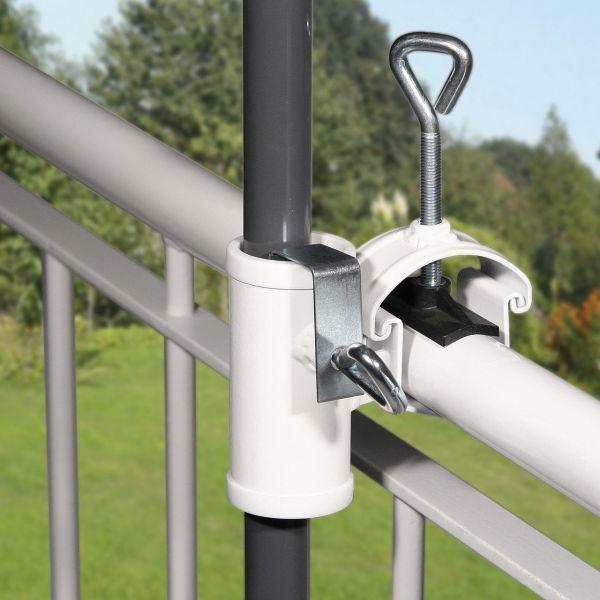 Sonnenschirmhalter Videx® für Handlauf, H II weiß