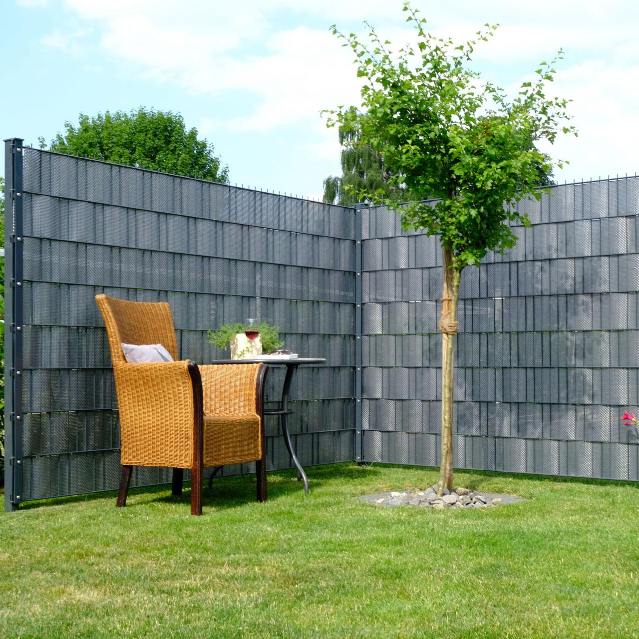 polyrattan sichtschutzstreifen silber anthrazit sichtschutz. Black Bedroom Furniture Sets. Home Design Ideas