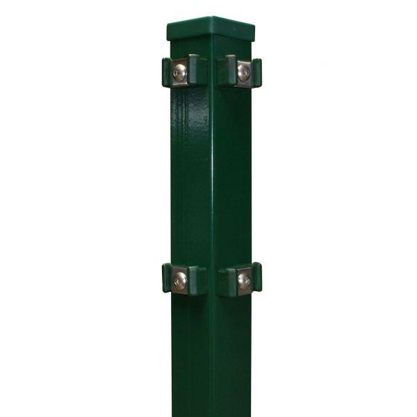 Eckpfosten für Doppelstabmatte 80cm, grün