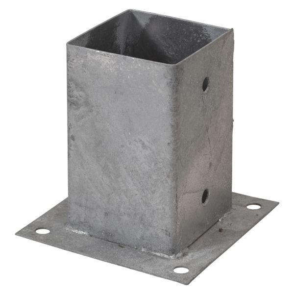 Pfosten-Montagefuß Cubic zum Aufschrauben, 9x9cm