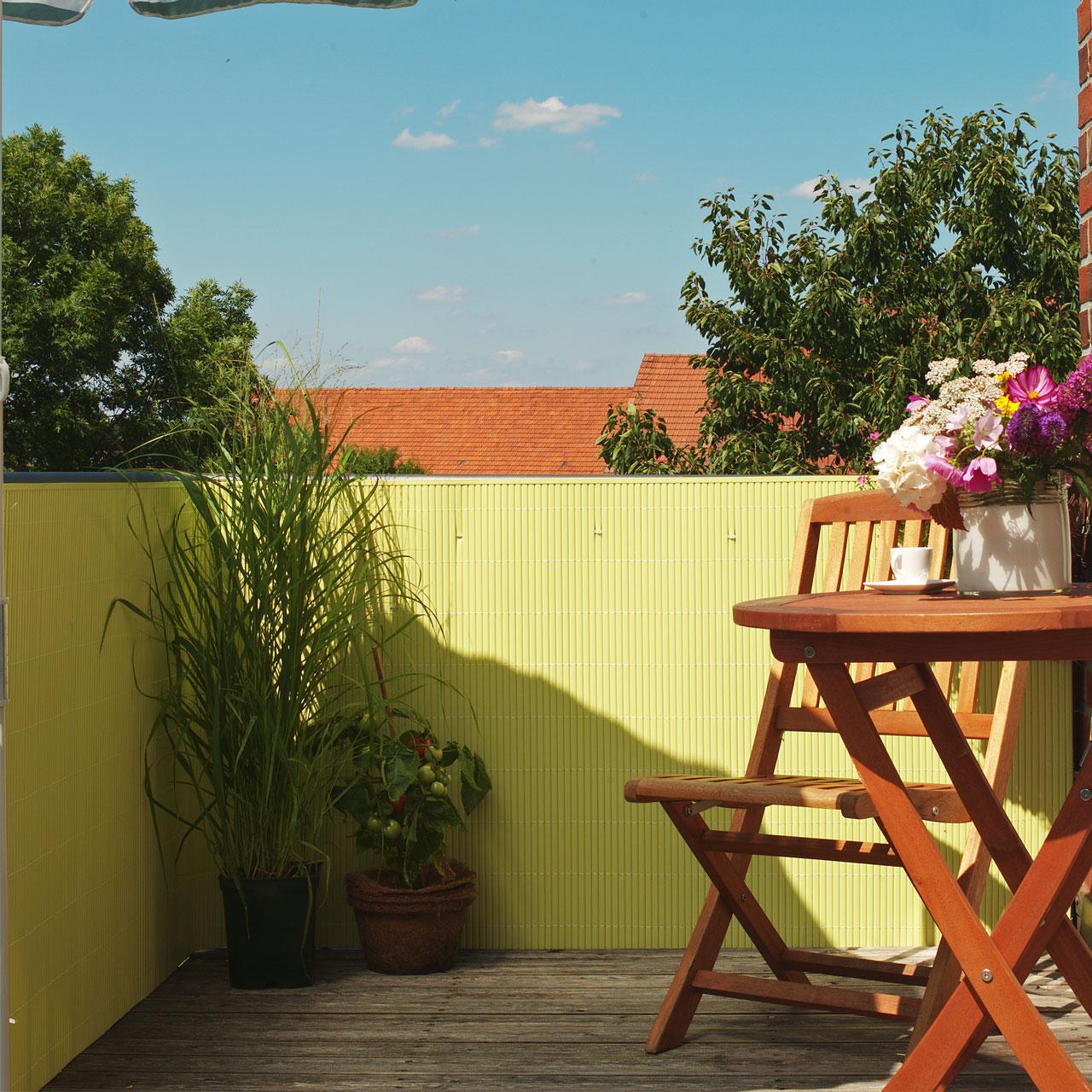 Sichtschutzmatte PVC Kunststoff Rügen pastellgelb
