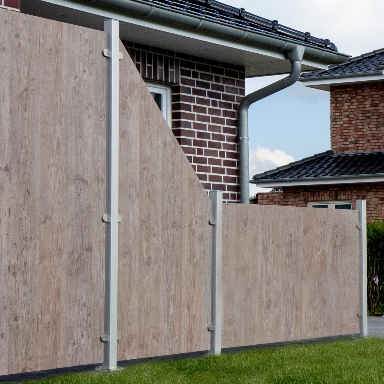 Hpl Sichtschutzzaun Premium Holzoptik