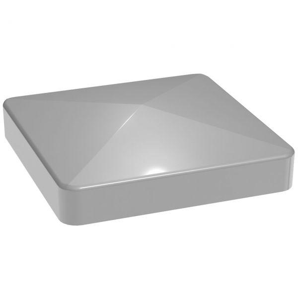 Pfostenkappe 7x7 für Aluminium Pfosten Steckzaun LUMINO, silbergrau