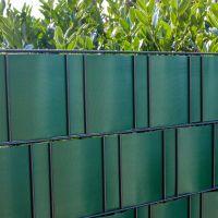 PVC-Flex Sichtschutzstreifen Doppelstabmattenzaun, grün Höhe x Länge:19 x 210 cm