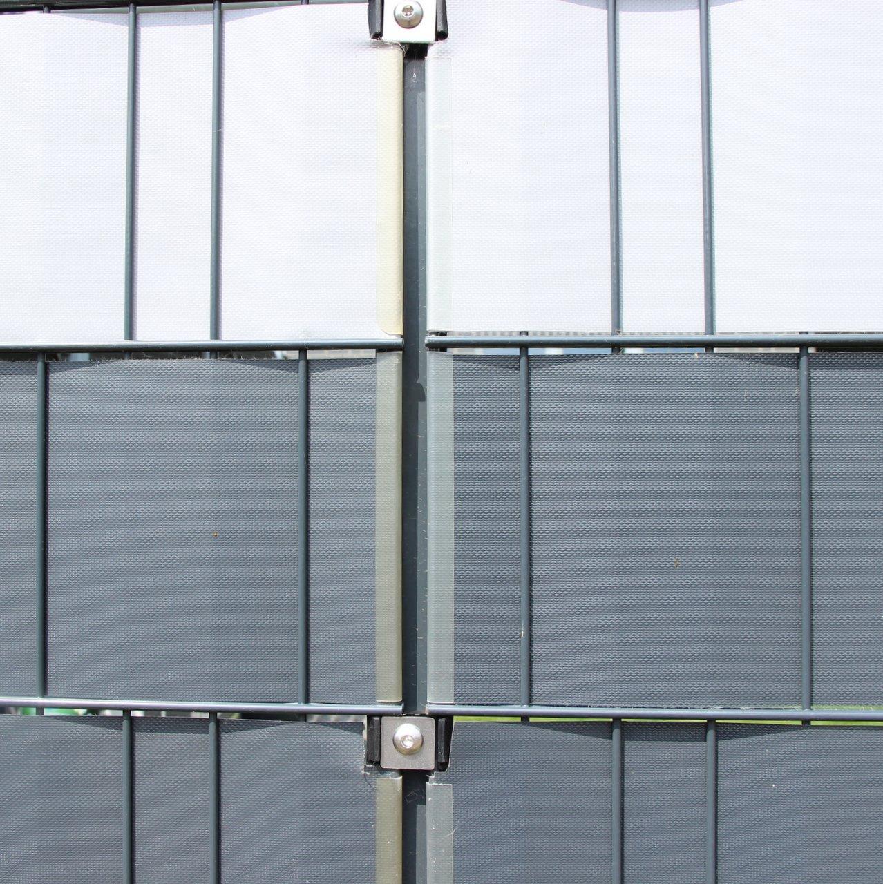 Omega Klemmschiene Fur Sichtschutzstreifen 19 Cm Transparent