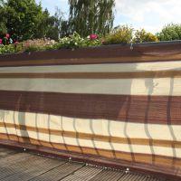 Balkonbespannung PE, Design braun/beige Höhe x Breite:90 x 300 cm