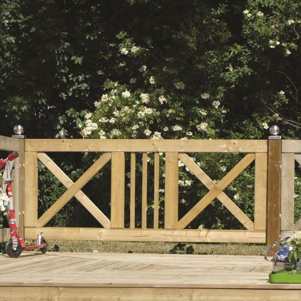 Gartenzaun Holz, Slot druckimprägniert