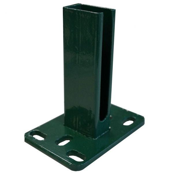 Montagefuß zum Aufdübeln von Eck-Pfosten 60x60mm, grün