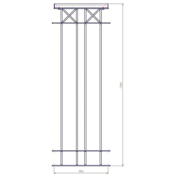 Metallzaun Parkallee H: 150cm, Zaunelement