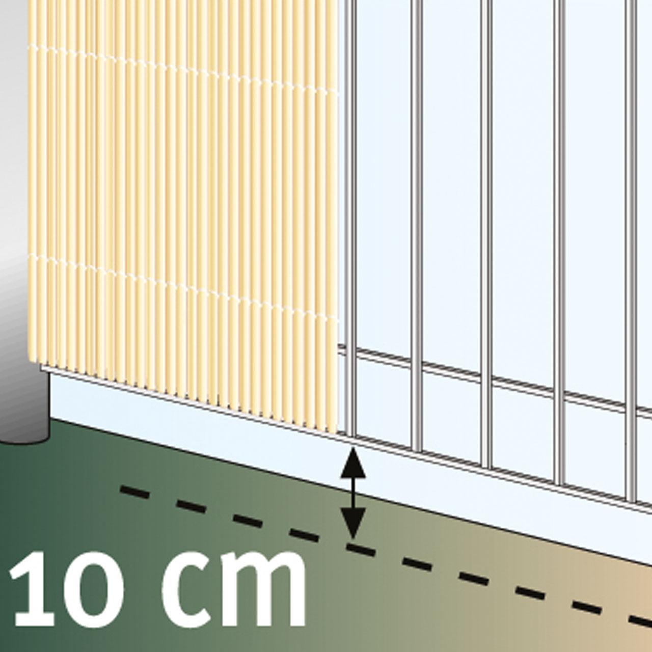 Sichtschutzzaun Pvc Kunststoff Meterware Rugen Bambus