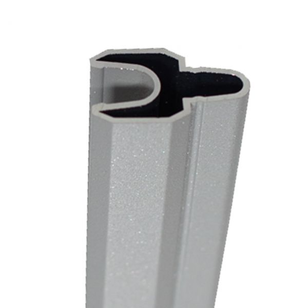 BPC Steckzaun SOLID-XL, Alu-Dekorleiste silbergrau