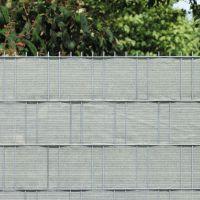 PE Sichtschutzstreifen Doppelstabmattenzaun, beige/anthrazit meliert Höhe x Länge:19 x 200 cm