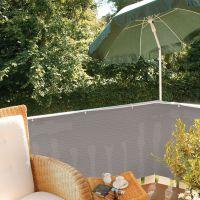 Balkonbespannung PE, Classic, grau Höhe x Breite:90 x 300 cm