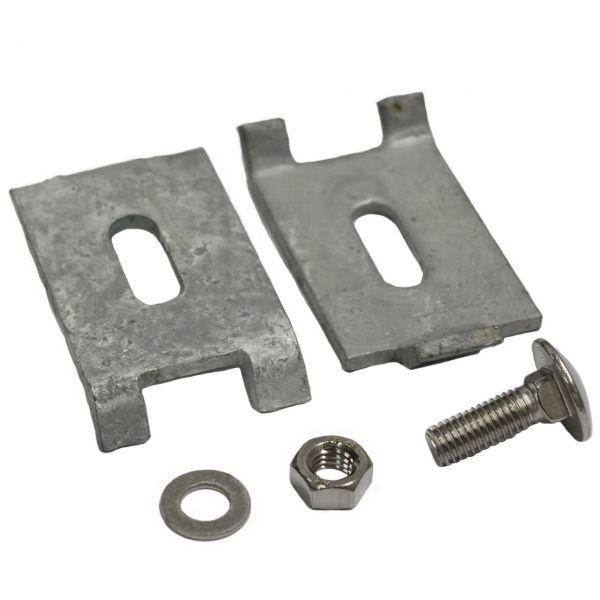 Eckverbinder für Doppelstabmatten, verzinkt