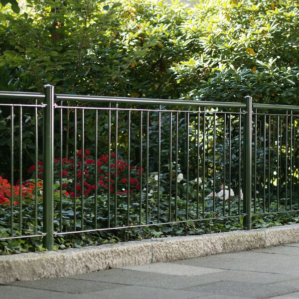 Zaunelement Sonderlänge – Metallzaun Stadtweg H: 90cm