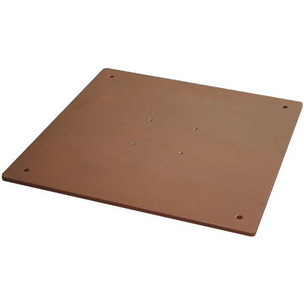 Stahlplatte für Sonnenschirmständer, 55 x 55cm