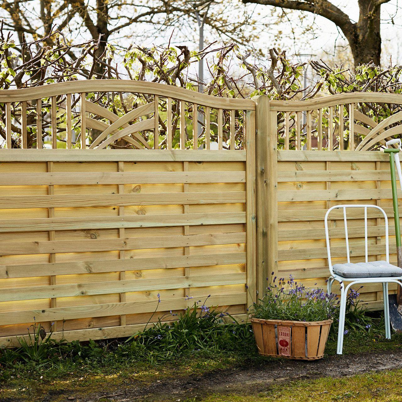 Holz Sichtschutz Zaun Ronda natur