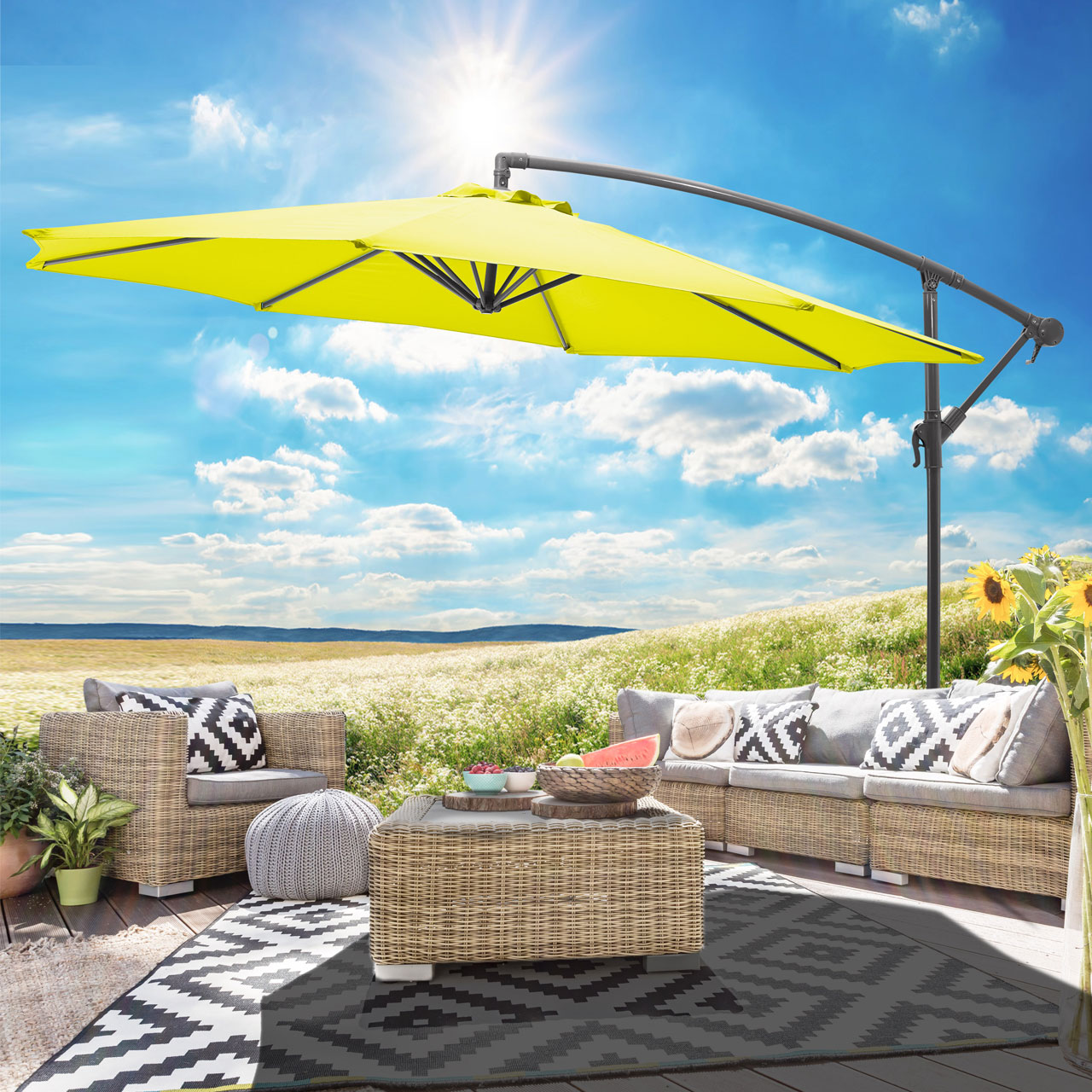 sonnenschirme f r terrasse. Black Bedroom Furniture Sets. Home Design Ideas