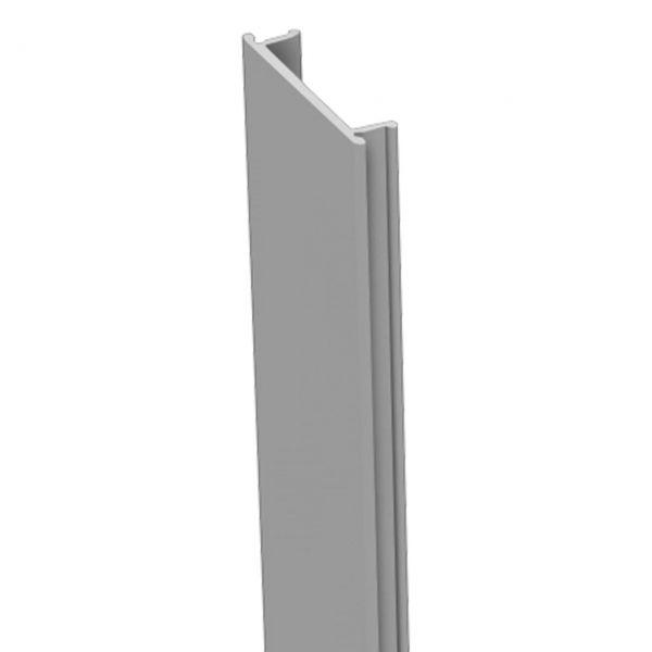 Nutlleiste für Alu-Pfosten 7x7 Steckzaun StoneFence, silbergrau