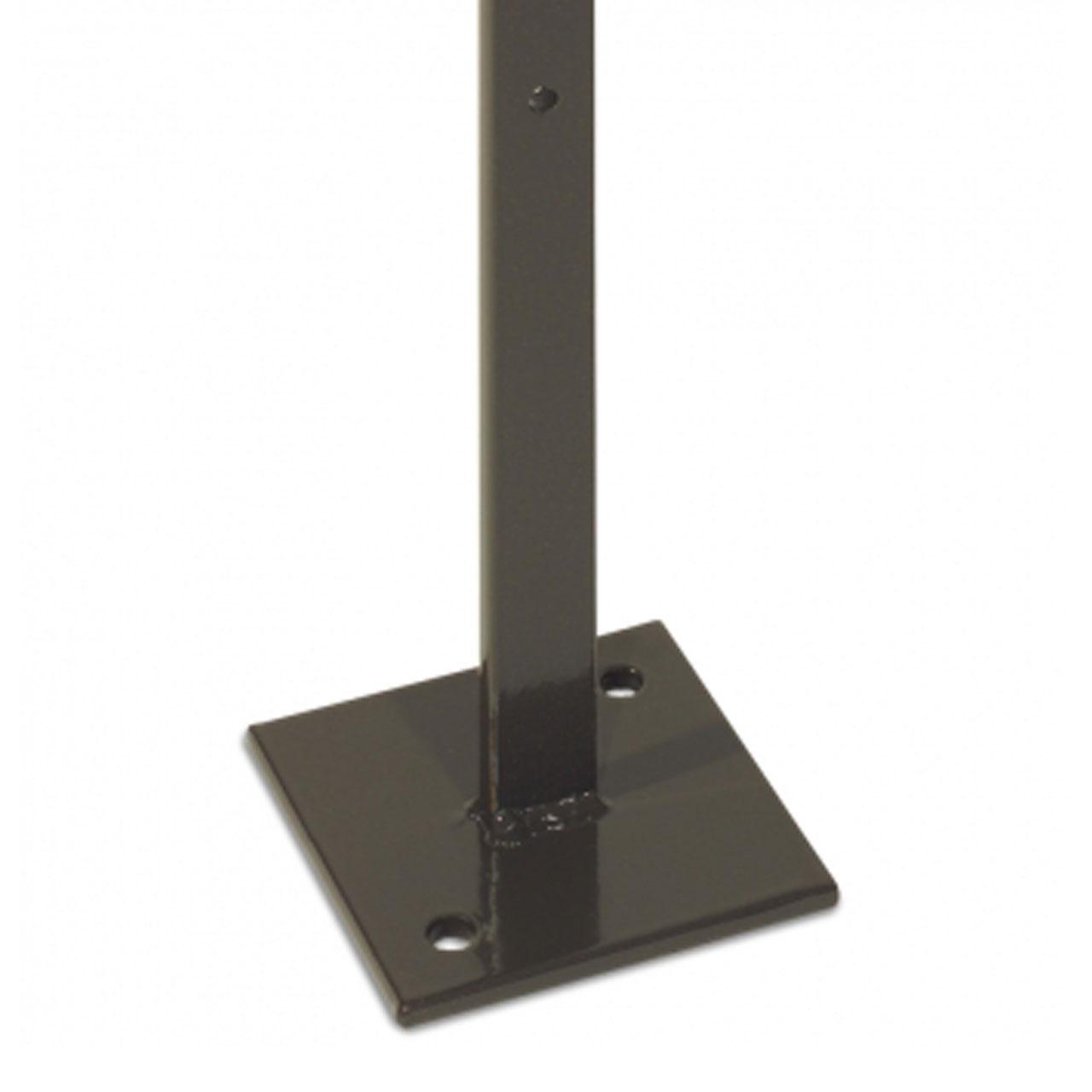 metall pfosten flacheisen zum aufschrauben anthrazit. Black Bedroom Furniture Sets. Home Design Ideas
