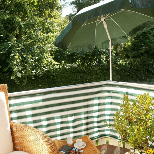 Balkonbespannung PE, Classic grün/weiß