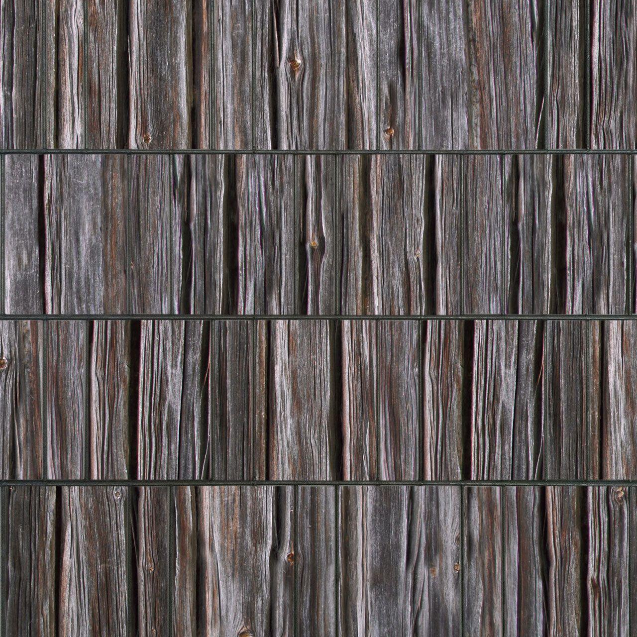 Sichtschutzstreifen bedruckt Motiv Holzbohlen