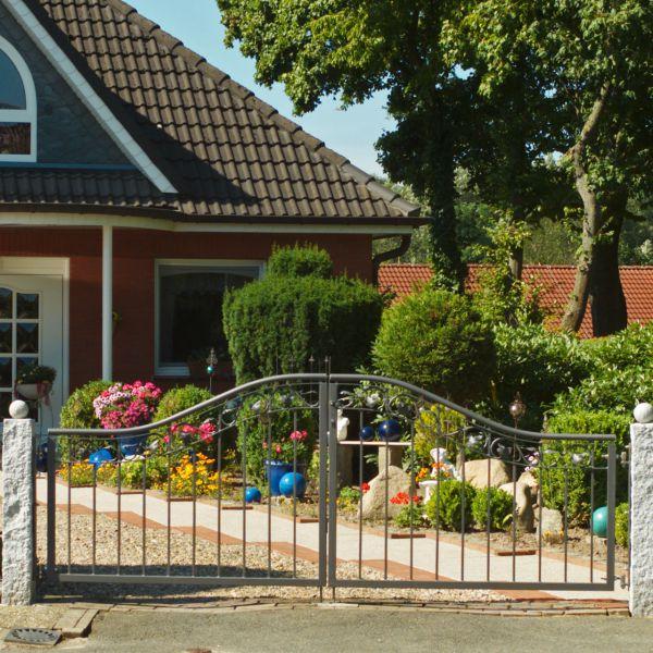 Friesentor 2-flügelig - Metallzaun Goethestraße Classic H: 120cm