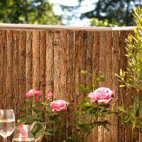 Rindenmatte, Sichtschutzmatte Bretagne natur Höhe x Breite: 90 x 300 cm