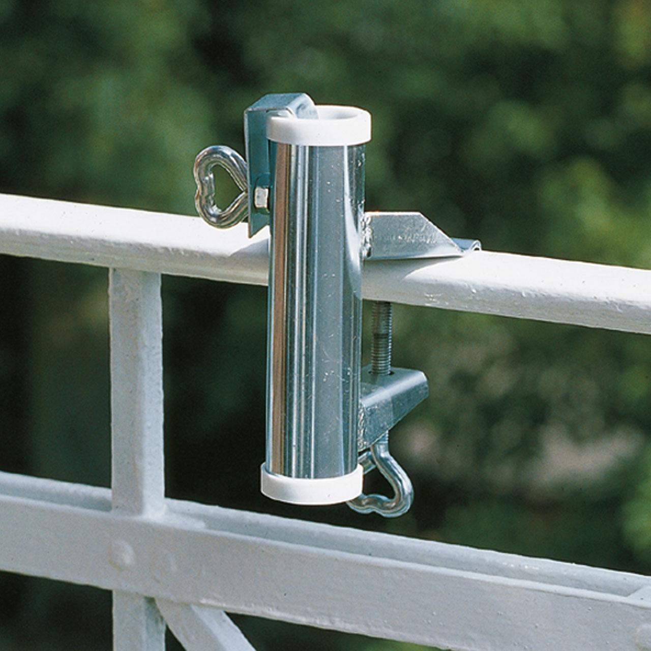 sonnenschirmhalter videx f r balkon handlauf verzinkt sichtschutz. Black Bedroom Furniture Sets. Home Design Ideas