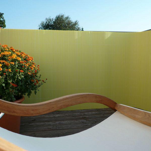 sichtschutzmatte pvc kunststoff montageset r gen pastellgr n sichtschutz. Black Bedroom Furniture Sets. Home Design Ideas