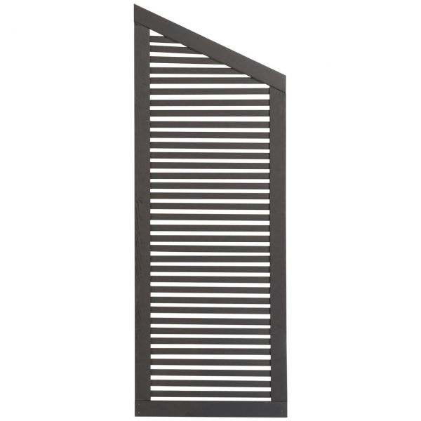 Sichtschutzwand Holz, Silence anthrazit-grau