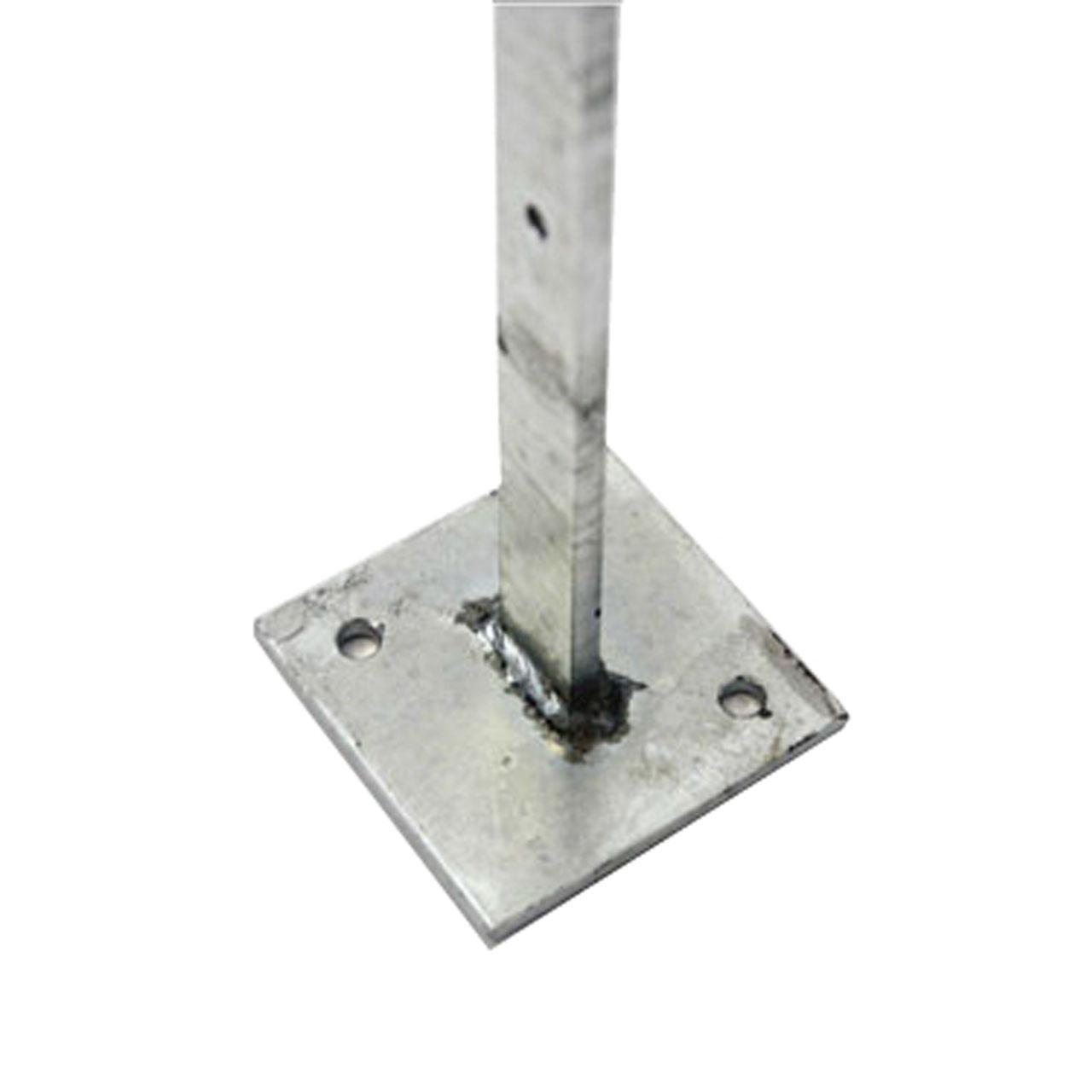 metall pfosten f r valencia montagegitter zum aufschrauben sichtschutz. Black Bedroom Furniture Sets. Home Design Ideas