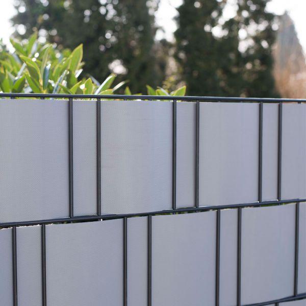 PVC-Flex Sichtschutzstreifen Doppelstabmattenzaun, aluminium