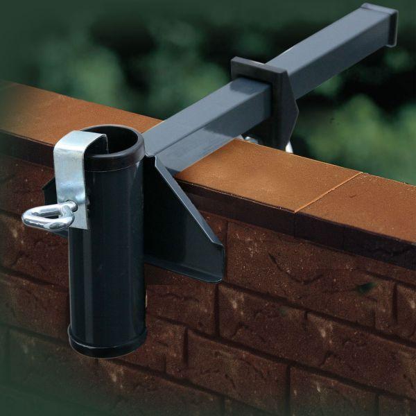 Sonnenschirmhalter Videx® für Mauerbrüstung, anthrazit