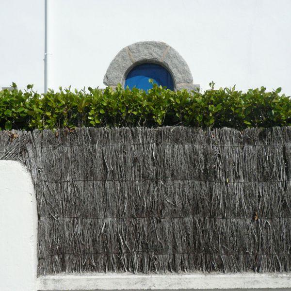 Sichtschutzzaun, Heidekrautwurzelmatte Bruyère grob, natur