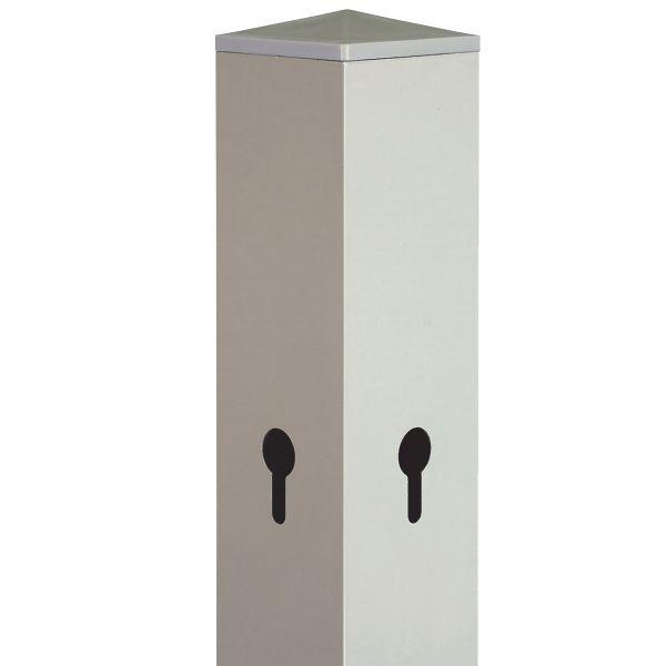 Aluminium-Pfosten 6x6 cm, beige