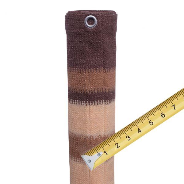 Balkonbespannung PE Meterware, Design braun/beige