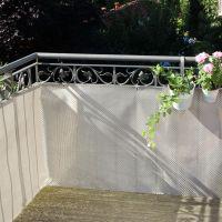 Balkonverkleidung Kunststoffgeflecht, platin Höhe x Breite:75 x 300 cm