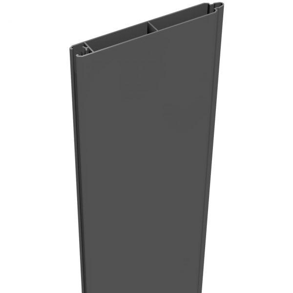 Aluminium Sichtschutz Steckzaun LUMINO, Einzelfüllung anthrazit
