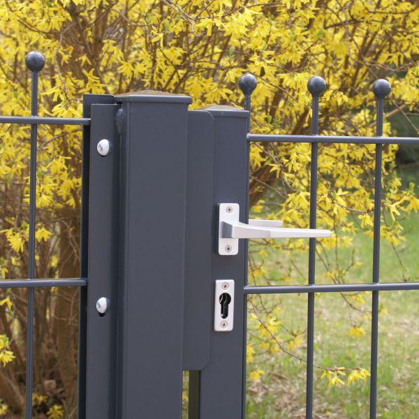 Gartentor Metall Schmuckzaun mit Kugeln 90cm